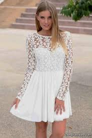 long sleeve white casual dresses 2016 2017 b2b fashion