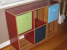 cubicle bookshelf made from left flooring 6 steps