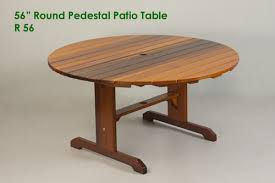 Cedar Patio Furniture Plans Large Round Pedestal Patio Table Outdoor Table Classic Cedar