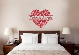 ideal personalized custom name sports monogram varsity letter grand custom name heart love decor vinyl decal wall stickers letterswords custom name heart love decor