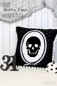 Halloween Skeleton Cut Out by Spooky Skeleton Halloween Pillow Eighteen25