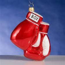 boxing gloves glass ornament the cottage shop