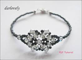 beaded bracelet crystal images Beaded bracelet tutorial pattern swarovski by darlovely on zibbet JPG