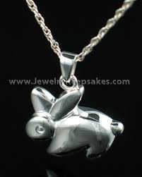 jewelry keepsakes sterling silver rabbit cremation urn pendants by jewelry keepsakes