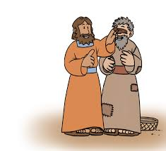 Jesus Healed The Blind Man Miracle Clipart Blind Man Pencil And In Color Miracle Clipart