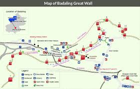 Beijing World Map by Map Of Badaling Great Wall Beijing China