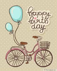 free printable birthday bicycle greeting card diy pinterest