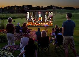 how to set up a backyard theater