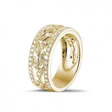 alliance en or alliances diamant or jaune 0 35 carat alliance baunat