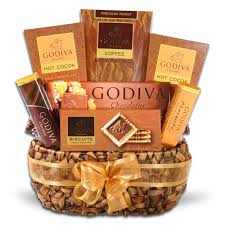 chocolate baskets godiva gourmet coffee delights gift basket grocery