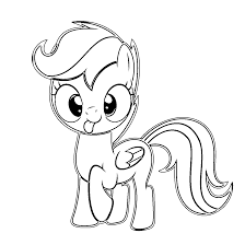 scootaloo my little pony friendship is magic coloring page kids we