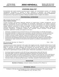 System Support Analyst Resume Cover Letter Computer System Analyst Job Description Job