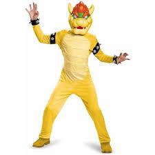 Boys Halloween Costumes Walmart Super Mario Bros Bowser Deluxe Child Halloween Costume Walmart
