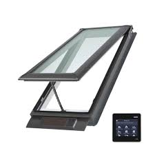 velux 21 x 37 7 8 in solar powered fresh air venting deck mount