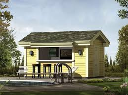 coolwater pool cabana with bar from houseplansandmore com for