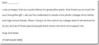 graduation thank you notes 8 graduation thank you note templates wording ideas