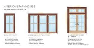 Door Styles Exterior American Farmhouse Home Style Exterior Window Door Details