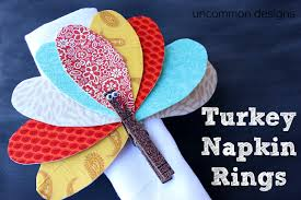 turkey napkin ring turkey napkin rings thanksgiving craft