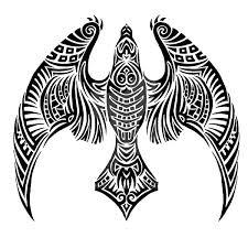 night hawk tattoo design
