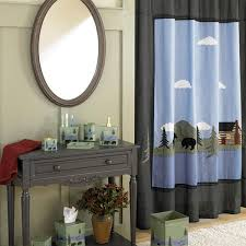 Moose Bathroom Accessories by Yukon Thunder Rustic Shower Curtain And Bathroom Accessories