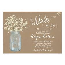 bridal shower invites jar baby s breath bridal shower invitation zazzle