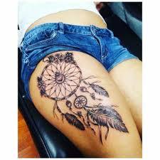 female thigh tattoos beautiful dream catcher tattoo ideas pinterest beautiful
