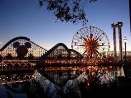 Disney California Adventure Map Disney California Adventure Park Anaheim California Sunset At