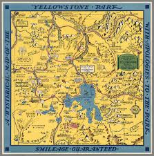 Yellowstone Map Usa by A Hysterical Map Of The Yellowstone Park With Apologies To The