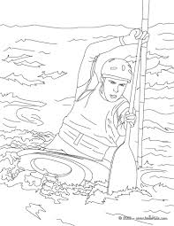 this canoe kayak coloring page is available for free on hellokids