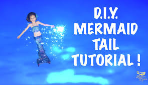 how to make a diy swimmable mermaid tail inexpensive no sew