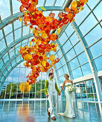 wedding rentals seattle chihuly garden and glass reception seattle weddings at