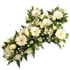 funeral arrangement floral tributes hearts and crosses funeral flowers flower