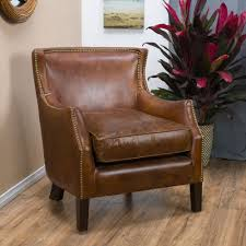 Cream Leather Club Chair Top Grain Leather Chair Ebay