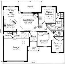 economical three bedroom brick house plan 21270dr floor plan main