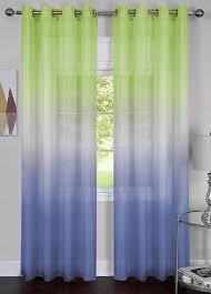 Blue Green Sheer Curtains Rainbow Grommet Curtains Green Blue Sheer Semi Sheer Curtains