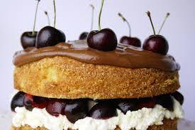 cherry brandy sponge cake with chocolate ganache and cherry brandy