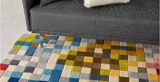 Multi Coloured Rug Uk Multicoloured Rug Large Wool 160 X 230cm Pixelation Made Com