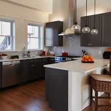 Dark Grey Cabinets Kitchen by 24 Grey Kitchen Cabinets Designs Decorating Ideas Design