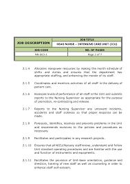 Icu Nurse Job Description Resume by Resume Icu Nurse Objective Introduction Raises Cf