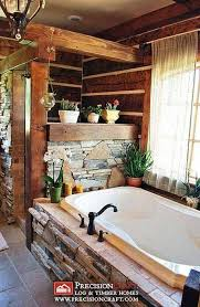 rustic cabin bathroom ideas inspiration for a mid sized rustic beige tile travertine floor is