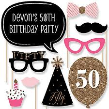 50th birthday party supplies chic pink black and gold 50th birthday birthday party theme