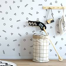 making statements products notonthehighstreet contemporary shapes feature wall sticker set stickers
