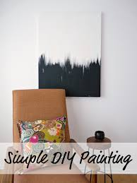 simple wall paintings for living room simple but striking black white diy abstract painting dans le