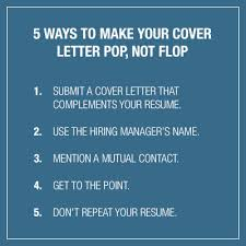 How To Make A Resume Letter For A Job by 5 Ways To Make Your Cover Letter Pop Not Flop