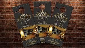 hotel door hanger template luxury hotel door hanger template stationery templates