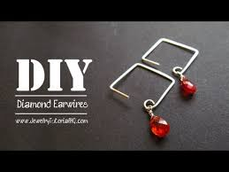 Jewelry Making Tools List - how to make diamond shaped earwires video tutorials squares
