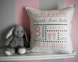 personalized pillows for baby birth announcement pillow etsy