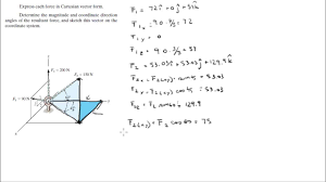 express each in cartesian vector form and find the resultant force