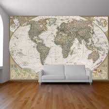 Mural Software by World Map Wall Paper Mural Self Adhesive Old Style World Map