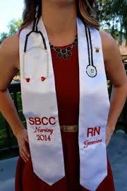graduation stole nursing graduation stole with gem stethoscope photo credit